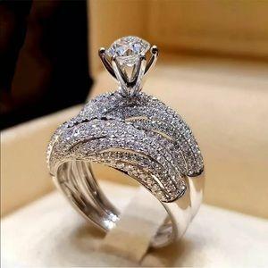 2 pc bridal ring set